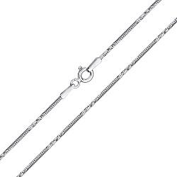 Серебряная цепочка Тройная линия плетения круглый снейк с насечкой