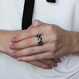 Серебряное кольцо Мадейра с эмалью и фианитами