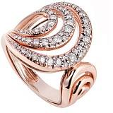 Кольцо Serpenti в розовом золоте с бриллиантами