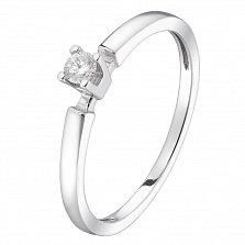 Кольцо из белого золота Анита с бриллиантом
