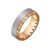 Золотое обручальное кольцо с фианитами Анжелика