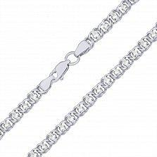 Серебряный браслет Мирена с цирконием, 4,5мм
