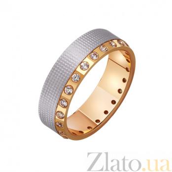 Золотое обручальное кольцо с фианитами Анжелика TRF--412488