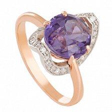 Золотое кольцо Элегия с александритом и фианитами