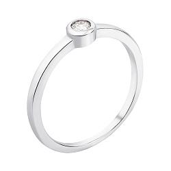 Серебряное кольцо с цирконием 000137119