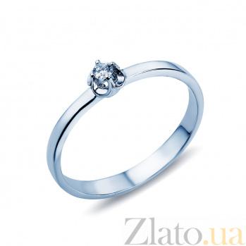 Золотое кольцо с бриллиантом Влюбленность  AQA--1194972