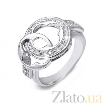 Серебряное декоративное кольцо с цирконием AQA--SK-SB049R