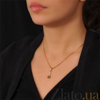Золотой подвес с изумрудом и бриллиантами Элейн EDM--П7533СМАРАГД
