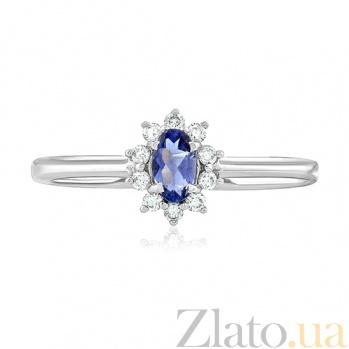 Золотое кольцо с иолитом и бриллиантами Бриджит EDM--КД7550/1ИОЛИТ
