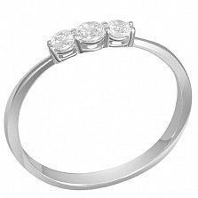 Кольцо Чистый ручей в белом золоте с бриллиантами