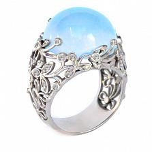 Золотое кольцо с бриллиантами и топазом Porcelain