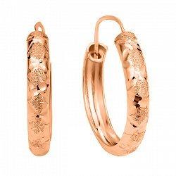 Серьги-кольца из красного золота 000106231