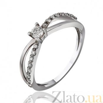 Золотое кольцо с бриллиантами Вальс влюбленных EDM--КД7467/1