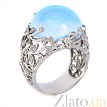 Золотое кольцо с бриллиантами и топазом Porcelain ZMX--RDT-0031w_K
