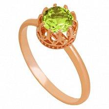 Золотое кольцо Хелена с хризолитом