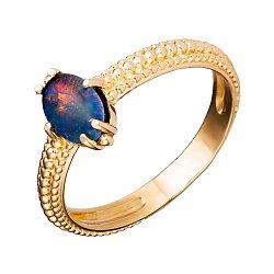 Кольцо из красного золота Фурия с опалом