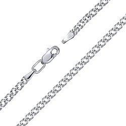 Серебряный браслет с алмазной гранью 000124422
