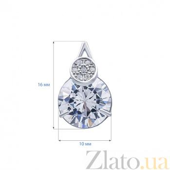 Серебряные серьги Лионель  AQA--72781б