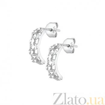 Серебряные сережки Хэйли SLX--С2/387