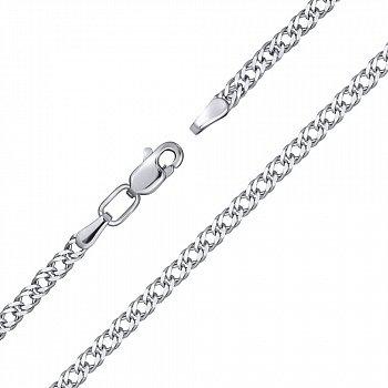 Серебряный браслет с алмазной гранью, 2мм 000124422