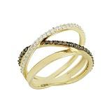 Золотое кольцо с фианитами Селма