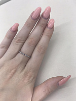 Кольцо из белого золота с сапфирами и бриллиантами 000140647