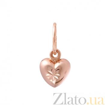 Золотой подвес Сердечко  SUF--423112