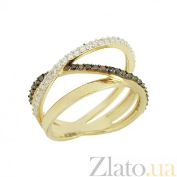Золотое кольцо с фианитами Селма 2К765-0031