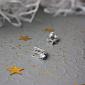 Серьги из белого золота с фианитами Эльмира PTL--3с443/01