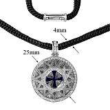 Колье серебрянное Звезда Эрцгаммы со шнурком,  ø 2,5см