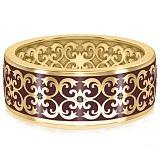 Мужское обручальное кольцо из желтого золота Калейдоскоп Любви: В ожидании Чуда