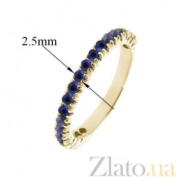 Золотое кольцо в жёлтом цвете с сапфирами Каприз ZMX--RS-15011y_K