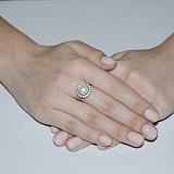 Серебряное кольцо Кувшинка