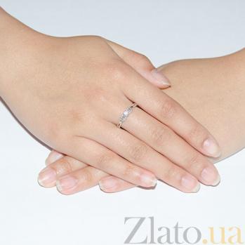 Кольцо в белои золоте Признание в любви с бриллиантами 000015488