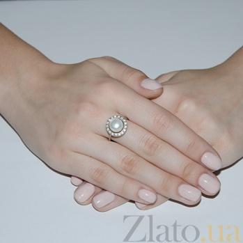 Серебряное кольцо Кувшинка 1694р б жем