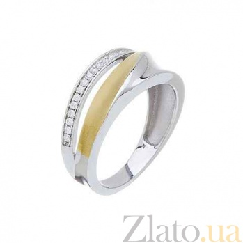 Кольцо серебро с позолотой AQA--XJR-0019-2