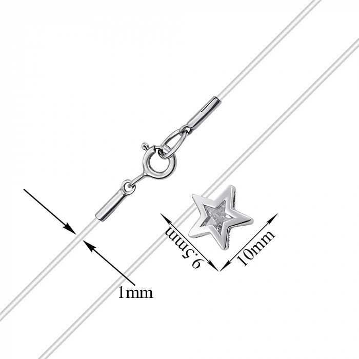 Колье на силиконовом шнурке с фианитом в фигурном касте 000070484 000070484