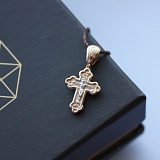 Золотой крестик Ангел-хранитель