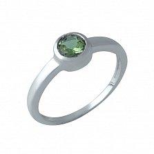 Серебряное кольцо Вартия с завальцованным корундом