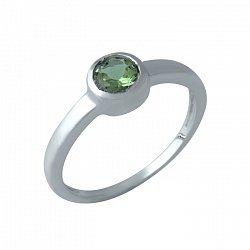 Серебряное кольцо с завальцованным корундом 000105577