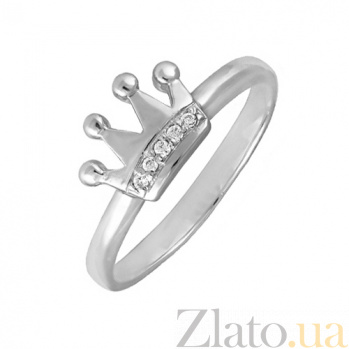 Кольцо в белом золоте Little Princess с фианитами 000022957