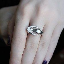 Серебряное кольцо с бриллиантами Лора