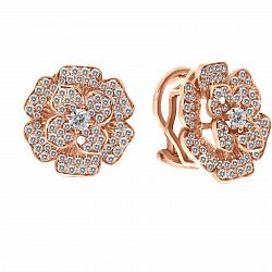 Серьги из красного золота Арабелла с бриллиантами
