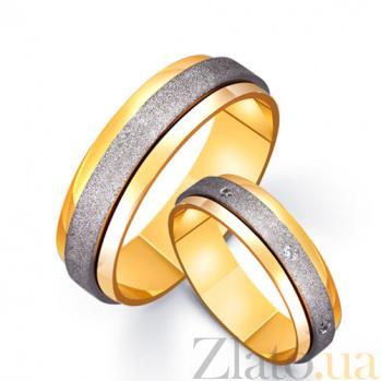 Золотое обручальное кольцо Ангел с фианитами TRF--4521414