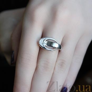 Серебряное кольцо с бриллиантами Лора 79101199