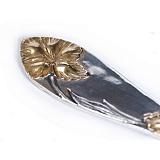Серебряная столовая вилка Орхидея с позолотой
