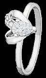 Серебряное кольцо с белыми фианитами Lovely