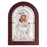 Икона серебряная Божьей Матери Владимирская