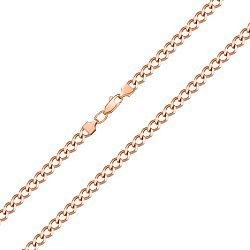 Цепочка из красного золота в панцирном плетении 000143848