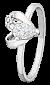 Серебряное кольцо с белыми фианитами Lovely 000025819